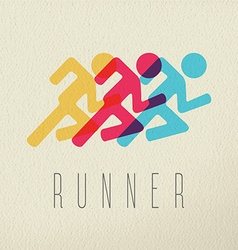 Runner fitness people concept icon color design vector image
