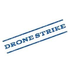 Drone strike watermark stamp vector