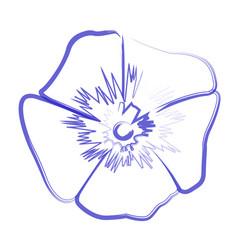 isolated flower outline vector image