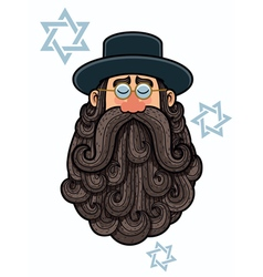 Rabbi Portrait vector image vector image