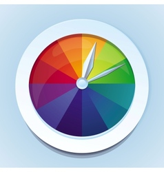rainbow watches - abstract icon vector image