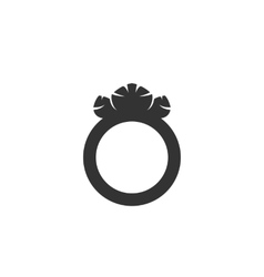 Ring icon isolated on white background vector image