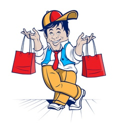 sale man character vector image