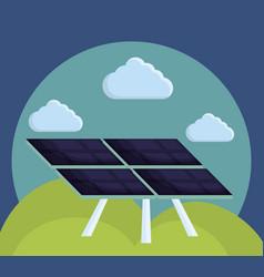 solar panel icon vector image vector image