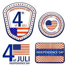 Stamps of Independence Day EPS 10 vector image vector image