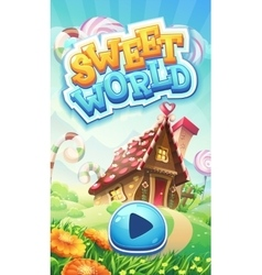 Sweet world mobile GUI pack loading screen vector image