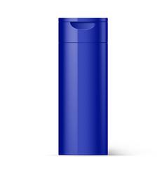 Violet plastic bottles beauty products vector