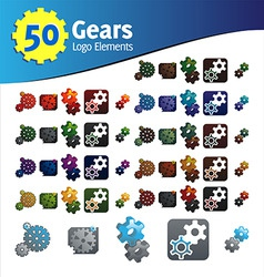 gears logo elements vector image vector image