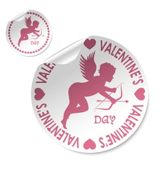 valentines sticker vector image
