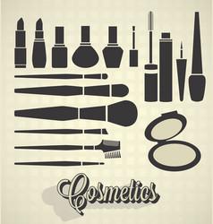 Cosmetics Silhouettes vector image