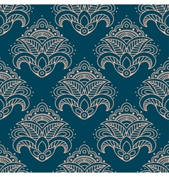 Paisley bell shaped flowers seamless pattern vector image