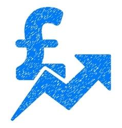 Pound sales growth grainy texture icon vector