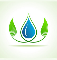 save water and environment concept stock vector image vector image