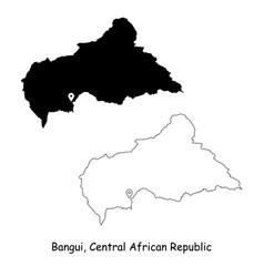 1040 bangui central african republic vector image
