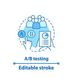 ab testing concept icon vector image