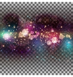 Abstract glowing particles background vector