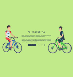 active lifestyle sport card vector image