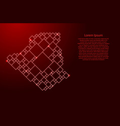 Algeria map from red pattern from a grid of vector