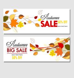 autumn sale flyer template vector image