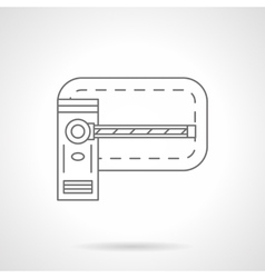 Barrier flat line icon vector image