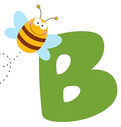 Bee With Letters B vector image