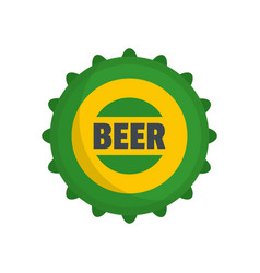 beer cap icon flat style vector image