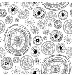 black lace floral pattern vector image