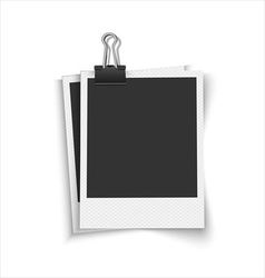 Blank photo frames with clip vector image