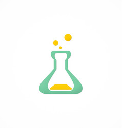 Bottle lab science chemical logo vector