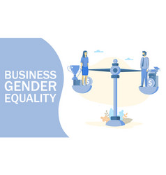 business gender equality concept web banner vector image
