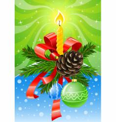 Christmas holiday decoration vector image vector image