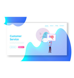 claim customer rating quality and business vector image