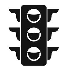 Crosswalk semaphore icon simple style vector
