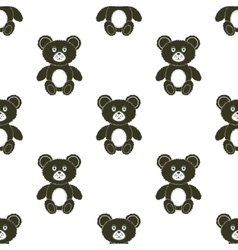 Cute Bear Seamless Pattern vector image vector image