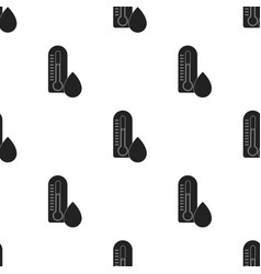 Damp day icon in black style isolated on white vector