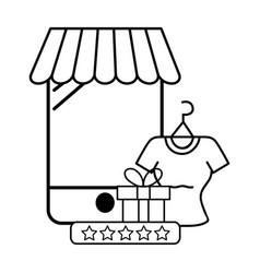 Ecommerce online store cartoon vector