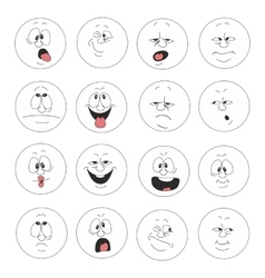 Emotion smiles set 003 vector image vector image