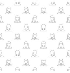 Female avatar pattern seamless vector