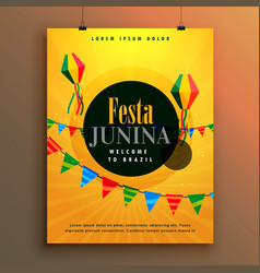 festa junina invitation poster design template vector image