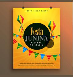 Festa junina invitation poster design template vector