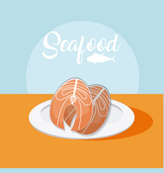 fishes fresh seafood vector image