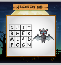 game halloween find the word of bat vector image