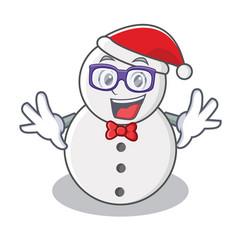 geek snowman character cartoon style vector image