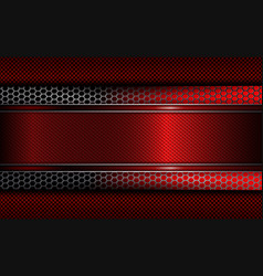 Geometric background with a red frame and metal vector