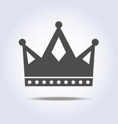 gray colors crown icon symbol vector image