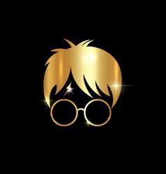 Harry potter cartoon icon minimal style vector