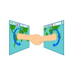 Internet Handshake Over Window vector