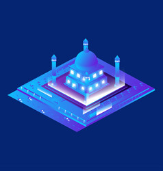 Isometric mosque building vector