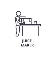 juice maker thin line icon sign symbol vector image