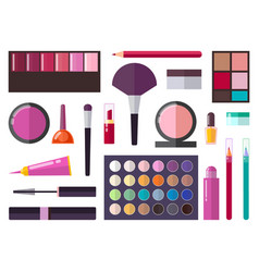 make up collection poster vector image